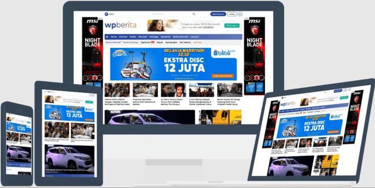 Template Wordpress Berita Mirip Detik com Premium